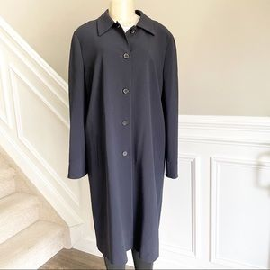 Celine Navy Duster Coat